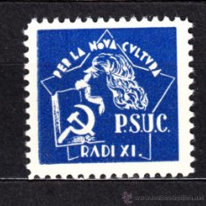 Sellos: PSUC G.G.1829** - AÑO 1937 - RADI XI, PER LA NOVA CULTURA. Lote 112298732