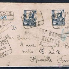 Sellos: 1938.- CADIZ A MARSELLA (FRANCIA). Lote 51108265