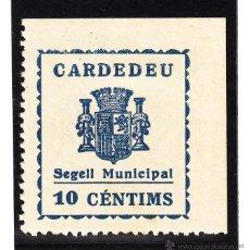 Sellos: ,,LOCAL REPUBLICANO CARDEDEU (BARCELONA) 301 CON CHARNELA, SELLO MUNICIPAL . Lote 51148326