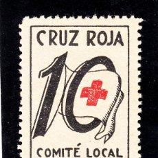 Sellos: ,,LOCAL REPUBLICANO BADALONA (BARCELONA) 164 CON CHARNELA, CRUZ ROJA COMITE LOCAL . Lote 51626557