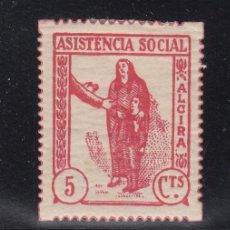 Sellos: ,,LOCAL REPUBLICANO ALCIRA (VALENCIA) 27 CON CHARNELA, ASISTENCIA SOCIAL. Lote 51148489
