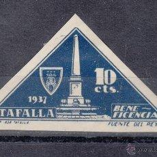 Sellos: ,,LOCAL NACIONALISTA TAFALLA (NAVARRA) 703A CON CHARNELA SIN DENTAR, BENEFICENCIA, . Lote 51234702
