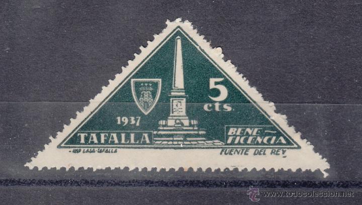 ,,LOCAL NACIONALISTA TAFALLA (NAVARRA) 702 CON CHARNELA, BENEFICENCIA, (Sellos - España - Guerra Civil - Locales - Usados)