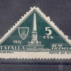 Sellos: ,,LOCAL NACIONALISTA TAFALLA (NAVARRA) 702 CON CHARNELA, BENEFICENCIA, . Lote 51234769