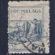 Sellos: PRO MÁLAGA 5 CTS. CON MATASELLOS DE MÁLAGA Y SELLO DE CENSURA.. Lote 51775338