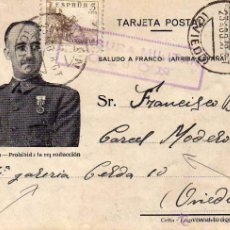 Sellos: CENSURA MILITAR GIJÓN ASTURIAS. CÁRCEL MODELO. 22-8- 1938 GUERRA CIVIL. IMAGEN FRANCO FOTO JALON.. Lote 51980384