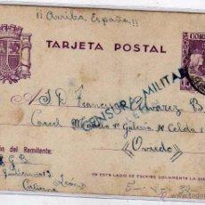 Sellos: ENTERO POSTAL CON CENSURA MILITAR LEON (AZUL). ENVIADA A LA CÁRCEL MODELO DE OVIEDO. 9/8/ 1938. Lote 51980694