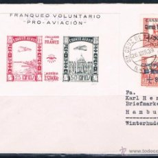 Sellos: 1939.- TENERIFE A ALEMANIA. Lote 52159614