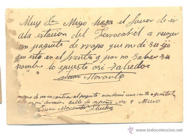Sellos: CARTA 1938 CON PROPAGANDA VIVA ESPAÑA BUSTO DE FRANCO CENSURA MILITAR - Foto 2 - 52444726
