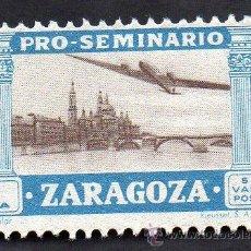 Sellos: PRO-SEMINARIO ZARAGOZA, 1 PESETA, NUEVO, CON GOMA.. Lote 52552410