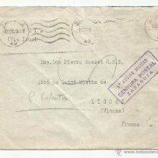 Sellos: CIRCULADA 1938 DE ZARAGOZA A LIGUGE ( FRANCIA ) CON CENSURA MILITAR VER FOTO. Lote 52569891