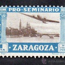 Sellos: PRO-SEMINARIO ZARAGOZA - 1 PESETA - NUEVO, CON GOMA. Lote 52586236
