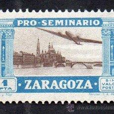 Sellos: PRO-SEMINARIO ZARAGOZA - 1 PESETA - NUEVO, CON GOMA. Lote 52586433