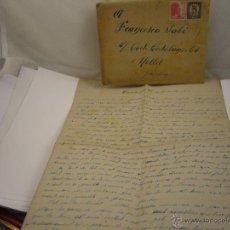 Sellos: GUERRA CIVIL CARTA 22 DICIEMBRE 1938. Lote 52609508