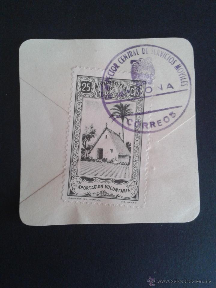 MUTUALIDAD DE CORREOS. EN BONITO FRAGMENTO CON BELLO MATASELLOS. INSPECTOR CENTRAL 4ª ZONA. (Sellos - España - Guerra Civil - Viñetas - Nuevos)