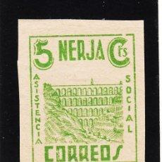 Sellos: ,,LOCAL NACIONALISTA NERJA (MALAGA) 513 SIN DENTAR CON CHARNELA, ASISTENCIA SOCIAL,. Lote 52754558