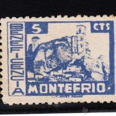 Sellos: ,,LOCAL NACIONALISTA MONTEFRIO (GRANADA) B627 SIN GOMA, BENEFICENCIA, . Lote 52772374