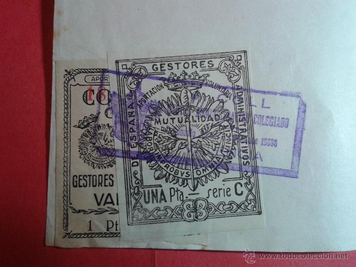 VIÑETAS DEL COLEGIO OFICIAL DE GESTORES ADMINISTRATIVOS DE VALENCIA. EN SOPORTE ORIGINAL. VER FOTOS (Sellos - España - Guerra Civil - Viñetas - Usados)
