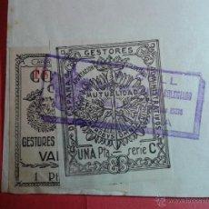 Sellos: VIÑETAS DEL COLEGIO OFICIAL DE GESTORES ADMINISTRATIVOS DE VALENCIA. EN SOPORTE ORIGINAL. VER FOTOS. Lote 52801739