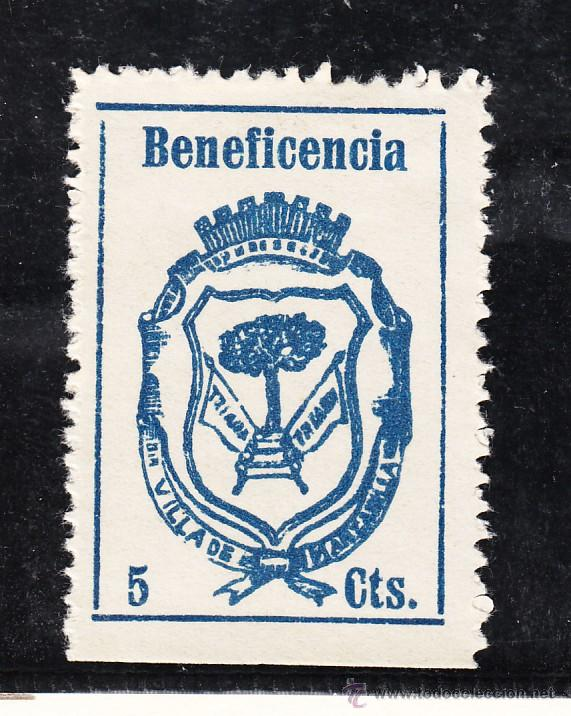 ,,LOCAL NACIONALISTA MANZANILLA (HUELVA) 441A CON CHARNELA, BENEFICENCIA, (Sellos - España - Guerra Civil - Locales - Usados)
