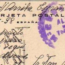 Sellos: CENSURA ALBA DE TORMES SOBRE TARJETA POSTAL DE SALAMANCA PALACIO MONTERREY. . Lote 52965461