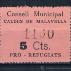 Sellos: SELLO LOCAL GUERRA CIVIL CONCELL MUNICIPAL CALDES DE MALAVELLA 5 CTS. Lote 53079766