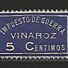 Sellos: VINAROZ. IMPUESTO DE GUERRA. ENVÍO GRATIS. Lote 135929573
