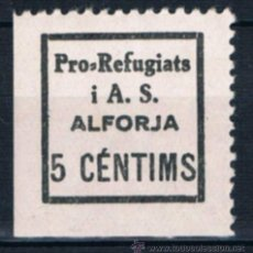 Sellos: GUERRA CIVIL SELLO LOCAL PRO REFUGIATS I.A.S. ALFORJA 5 CENTIMS LOT122015. Lote 53241591