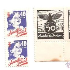 Sellos: VIÑETAS AUXILIO DE INVIERNO Y AUXILIO SOCIAL .. Lote 53623518