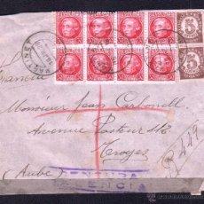 Sellos: 1938.- MARTINET (LERIDA) A FRANCIA. Lote 53768094