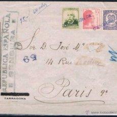 Sellos: 1938.- TARRAGONA A PARIS (FRANCIA. Lote 53955726