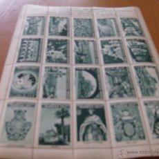 Sellos: MANRESA AÑO 1947. HOJA 20 VIÑETAS, COMPLETA. 1º CONGRESO FILATELICO - (COLOR VERDE). Lote 245503365