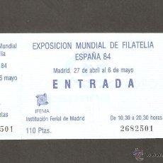 Sellos: EXPOSICION MUNDIAL DE LA FILATELIA ESPAÑA 84. Lote 54130310