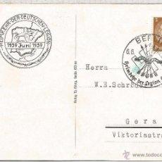 Sellos: ALEMANIA BERLIN TARJETA ESPECIAL Y MATASELLOS CONMEMORATIVO DE LA LEGION CONDOR 1939. Lote 54396642