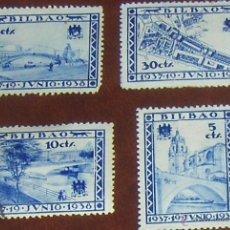 Sellos: LOCALES DE BILBAO 1938. GUERRA CIVIL.. Lote 54560505