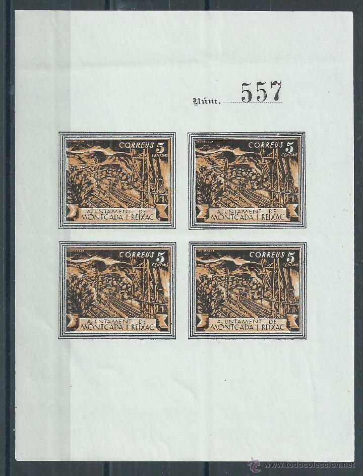 R7/ ESPAÑA, GUERRA CIVIL 1937, MONTCADA I REIXAC, HB EN NUEVO** (Sellos - España - Guerra Civil - De 1.936 a 1.939 - Nuevos)