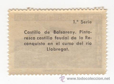 Sellos: viñeta de manresa primer congreso filatelico manresa 1947 castillo de balsereny 1ª serie - Foto 2 - 54649710