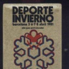 Timbres: S-0144- DEPORTE INVIERNO. BARCELONA 1981. Lote 54721876