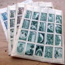 Sellos: MANRESA - AÑO 1947 - 1º CONGRESO FILATELICO - 4 SERIES COMPLETAS VIÑETAS VERDE, MARRON NEGRA Y AZUL. Lote 222458908