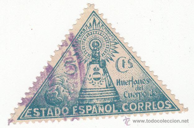 HUÉRFANOS DE CORREOS. EDIFIL 20..VIRGEN DEL PILAR. USADO (Sellos - España - Guerra Civil - Beneficencia)