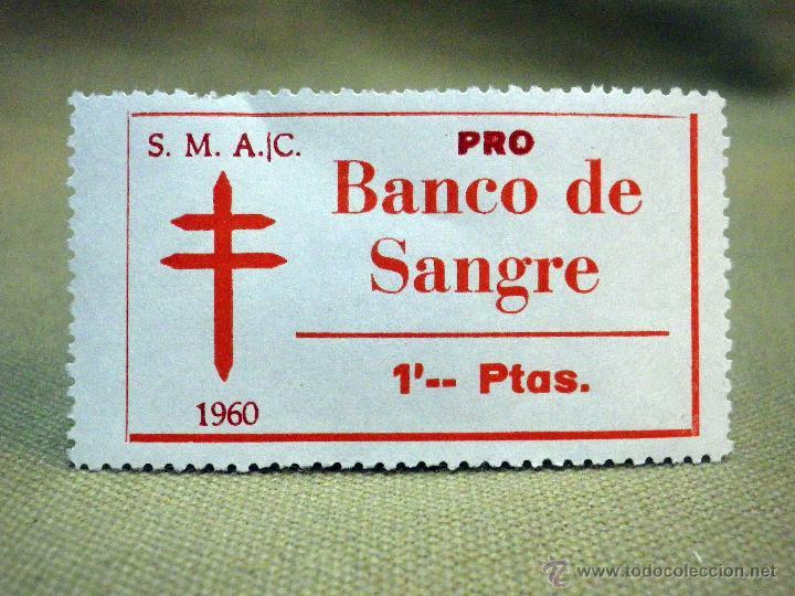 VIÑETA, PRO TUBERCULOSOS, BANCO DE SANGRE, 1 PESETAS, 1960 (Sellos - España - Guerra Civil - Viñetas - Nuevos)