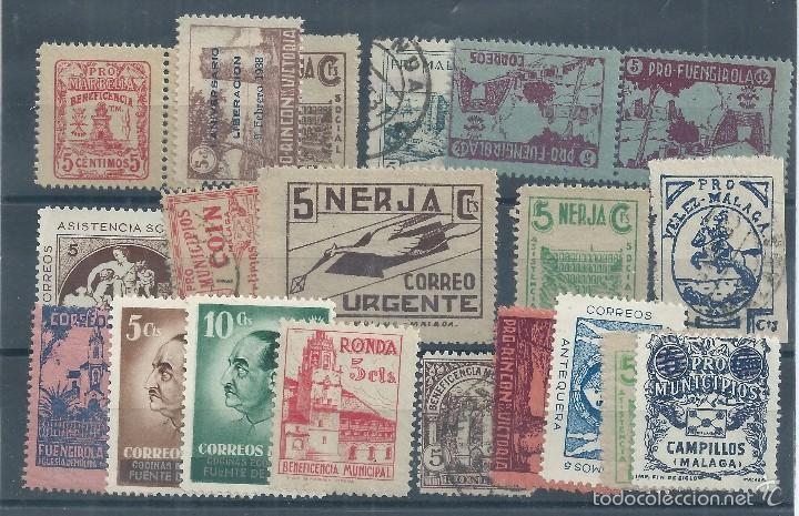 R9/ ESPAÑA, GUERRA CIVIL, 20 SELLOS LOCALES DIFERENTES, NUEVOS Y USADOS (Sellos - España - Guerra Civil - De 1.936 a 1.939 - Nuevos)