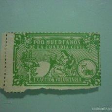 Sellos: PRO HUÉRFANOS DE LA GUARDIA CIVIL 5 PESETAS. Lote 55377328
