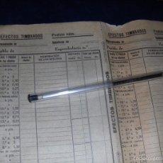 Sellos: HOJA DE PEDIDO DE EFECTOS TIMBRADOS DE EXPENDIDURIA, ESTANCO. AÑOS 30.. Lote 55380926