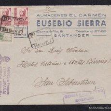 Sellos: 1938. SANTANDER A SAN SEBASTIAN. Lote 55688828