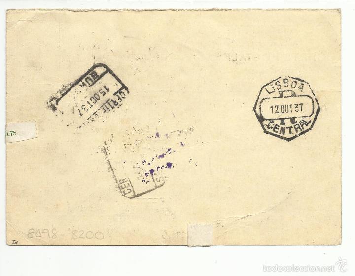 Sellos: postal circulada 1937 de burgos a liechtenstein con censura militar ver foto - Foto 2 - 55753321