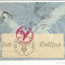 Sellos: CIRCULADA 1943 DE PALAMOS GIRONA A MALMOE CON CENSURA GUBERNATIVA BARCELONA VER FOTO . Lote 55754918