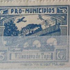 Sellos: SELLO GUERRA CIVIL. PRO MUNICIPIOS. VILLANUEVA DE TAPIA (MÁLAGA). 5 CTS. Lote 56017410