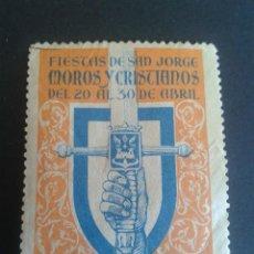 Sellos: VIÑETA TURÍSTICA DE ALCOY. MOROS Y CRISTIANOS. AÑOS 50.. Lote 56162658