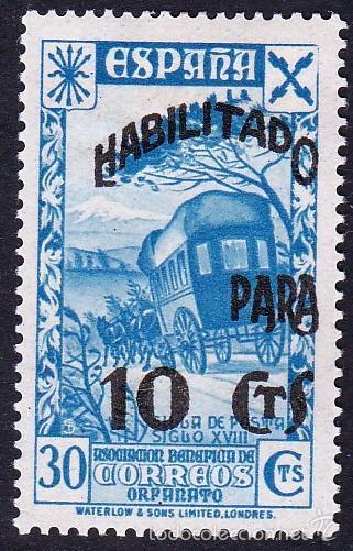 BENEFICENCIA HUERFANOS DE CORREOS Nº49/1940 (Sellos - España - Guerra Civil - Beneficencia)
